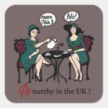 Más juntan con te anarquía en el UK_colour.png Pegatinas Cuadradas