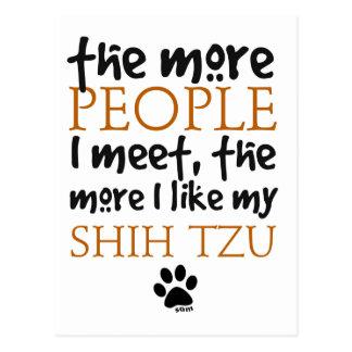 Más la gente encuentro… a Shih Tzu Postales