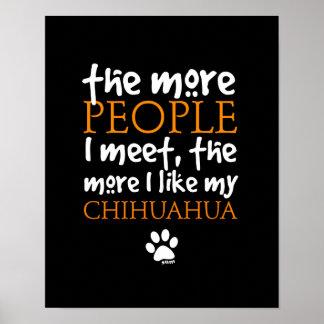 Más la gente resuelvo… la versión de la chihuahua posters