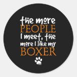 Más la gente resuelvo… la versión del boxeador etiquetas redondas