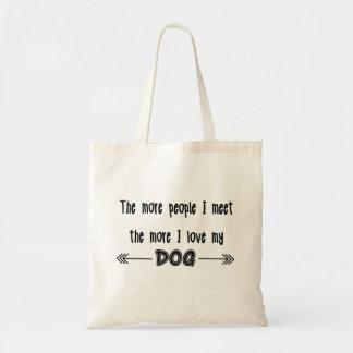 Más la gente resuelvo más amor de I mi perro Bolsa Tela Barata