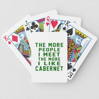 Más la gente resuelvo más que tengo gusto de baraja de cartas