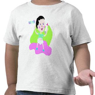 ¡Más leche! camiseta de la diversión del niño