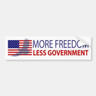 Más libertad menos gobierno etiqueta de parachoque