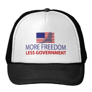 Más libertad menos gobierno gorro de camionero