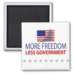 Más libertad menos gobierno imán de frigorifico