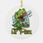 Más Lil T Rex Ornamento Para Arbol De Navidad
