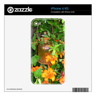 Más linterna y lirios calcomanía para iPhone 4S