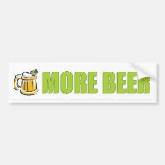 Más logotipo de la cerveza pegatina para auto