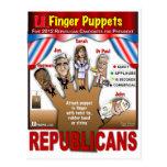 Más marionetas del dedo del GOP Tarjeta Postal