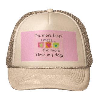Más muchachos = más amor para mi perro - gorra de