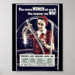 Más mujeres en el trabajo más pronto ganamos poster