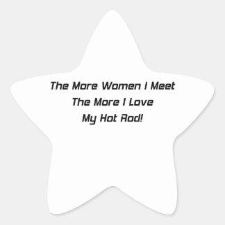 Más mujeres resuelvo más amor de I mi coche de Pegatina En Forma De Estrella
