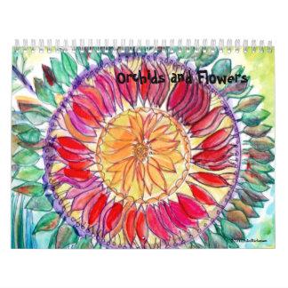 Más orquídeas y otra florece 2013 calendarios de pared