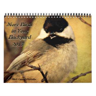 Más pájaros en su calendario 2013 del patio