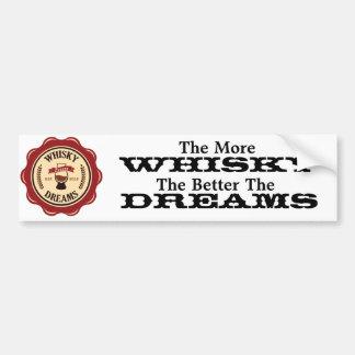 Más pegatina para el parachoques del whisky pegatina de parachoque