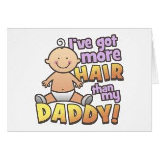 Más pelo que las camisetas y los regalos del papá tarjeta