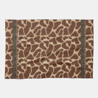 Más piel de imitación de las jirafas brillantes toalla de cocina