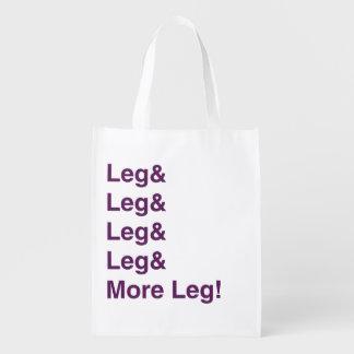 ¡Más pierna! Bolsa Reutilizable