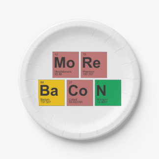 Más placas del tocino platos de papel