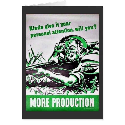 Más producción tarjeta de felicitación