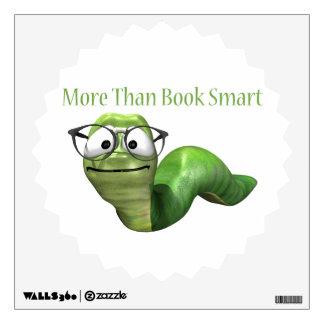 Más que gusano de libro elegante del libro vinilo decorativo