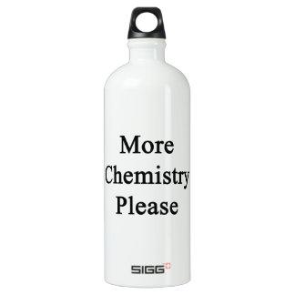 Más química por favor