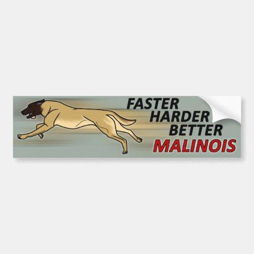 Más rápidamente, más duro, mejor etiqueta de parachoque