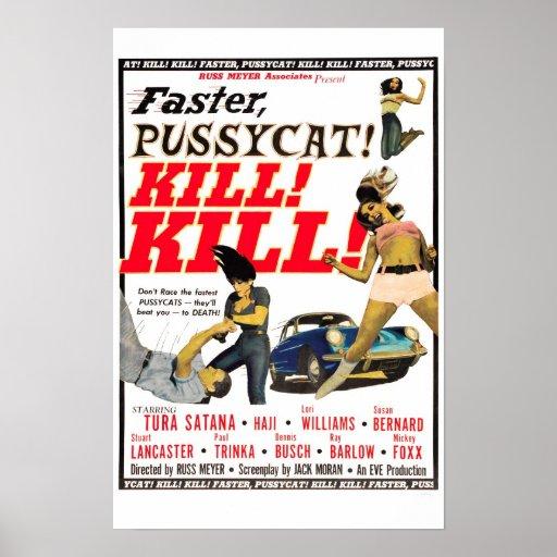 ¡Más rápidamente, minino! ¡Matanza! ¡Matanza! Cart Poster