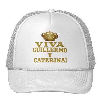 Mas real de Guillermo y Caterina Boda Camisas y Gorros Bordados