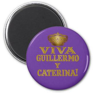 Mas real de Guillermo y Caterina Boda Camisas y Imán Redondo 5 Cm