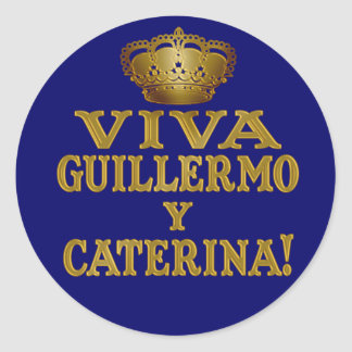 Mas real de Guillermo y Caterina Boda Camisas y Pegatina Redonda