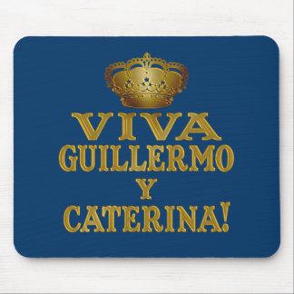 Mas real de Guillermo y Caterina Boda Camisas y Tapete De Raton