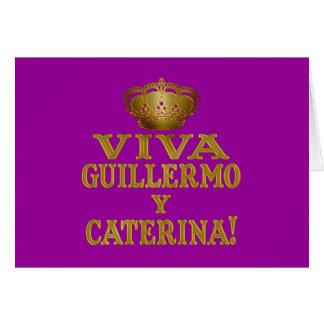 Mas real de Guillermo y Caterina Boda Camisas y Tarjeta De Felicitación