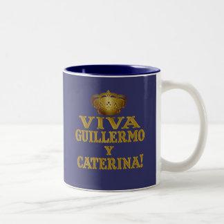 Mas real de Guillermo y Caterina Boda Camisas y Taza Dos Tonos