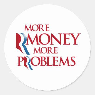 Más Rmoney más Problems.png Pegatina Redonda