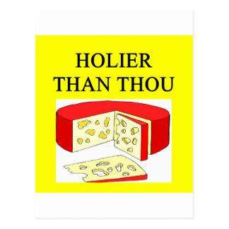 más santo que chiste del queso suizo de mil tarjetas postales