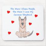 Más sé el perro de pastor alemán de la gente alfombrilla de raton