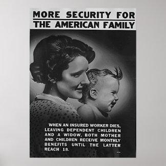Más seguridad para la familia americana impresiones