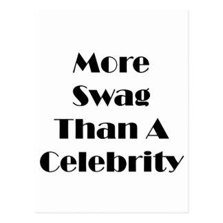 Más Swag que una celebridad Tarjetas Postales
