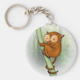 más tarsier minúsculo llavero redondo tipo pin
