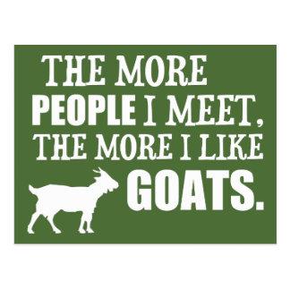 Más tengo gusto de cabras tarjeta postal