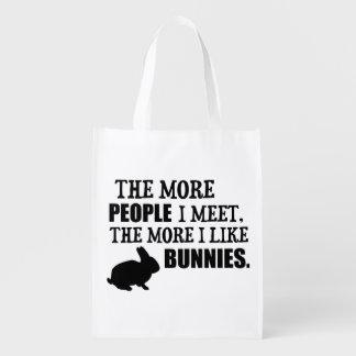 Más tengo gusto de conejitos bolsa reutilizable