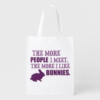 Más tengo gusto de conejitos bolsas para la compra