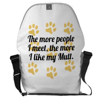 Más tengo gusto de mi Mutt Bolsas De Mensajería