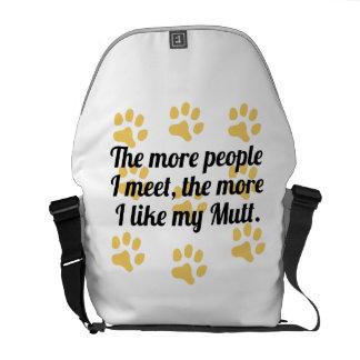 Más tengo gusto de mi Mutt Bolsas De Mensajeria