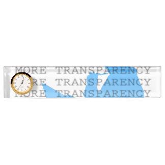 Más transparencia