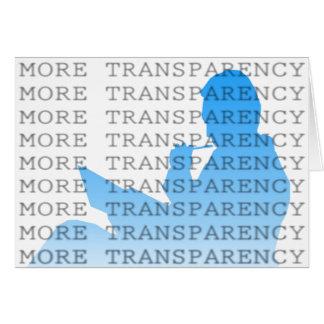 Más transparencia felicitaciones