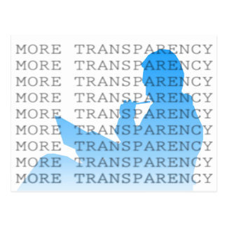 Más transparencia tarjeta postal