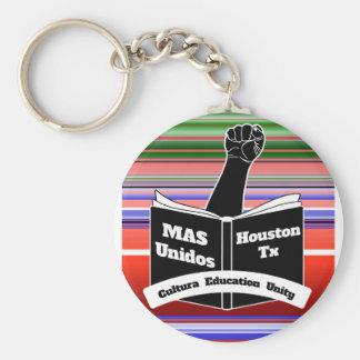 MAS Unidos HTX Serape Basic Round Button Keychain